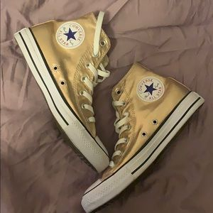 Rose Gold Shiny Converse